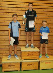 Jungen U15: Alexander Haug (2.), Daniel Kern (1.), Jonah Senge (3.)